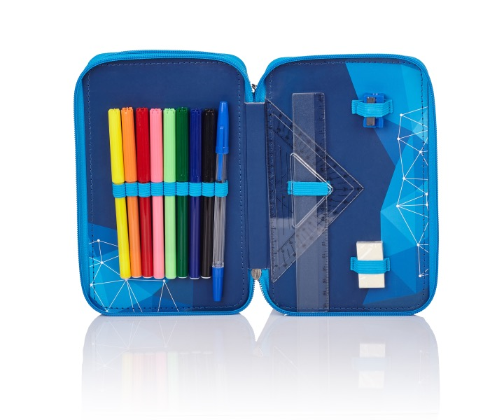 Double pencil case with accessories, 2W RM-84 Real Madrid Color 3