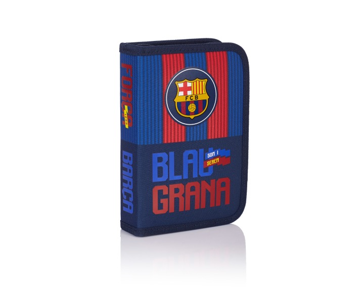 Single pencil case without accessories, 2 flaps, 1BW2 FC-143 Barcelona Barca Fan 5