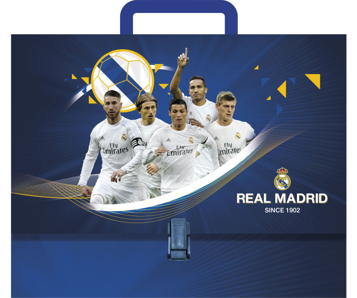 Briefcase with handle A4, hardcover Real Madrid 3