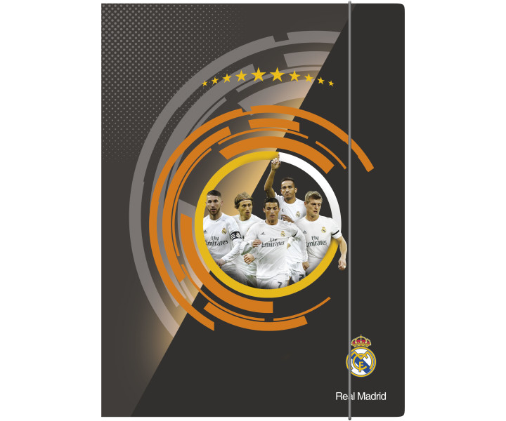 Briefcase with elastic band A4 Real Madrid 3