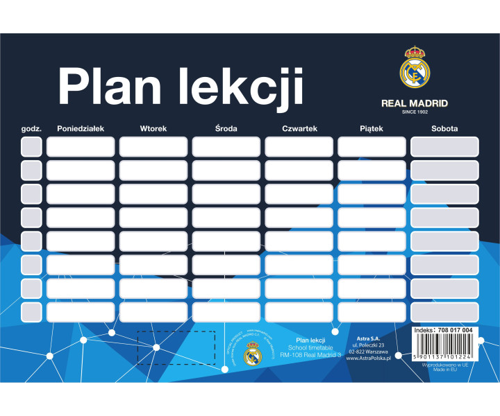 Schedule RM-108 Real Madrid 3