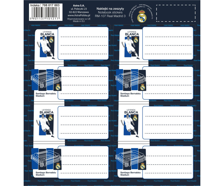 Stickers for notebooks RM-107 Real Madrid 3