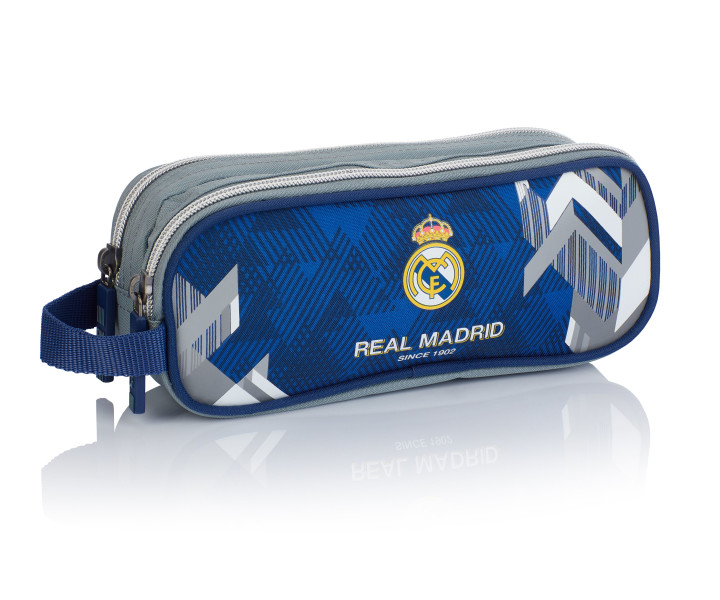 Satchel - pencil case with two zippers RM-177 Real Madrid Color 5