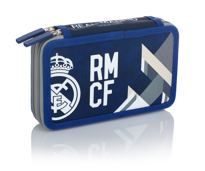 Double pencil case without accessories 2BW RM-184 Real Madrid Color 5