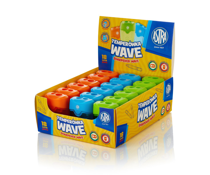 Astra Wave Pencil sharpener with two holes- display 18 pcs