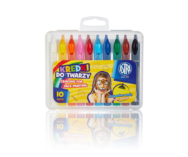Face Crayons 10 colours PP box