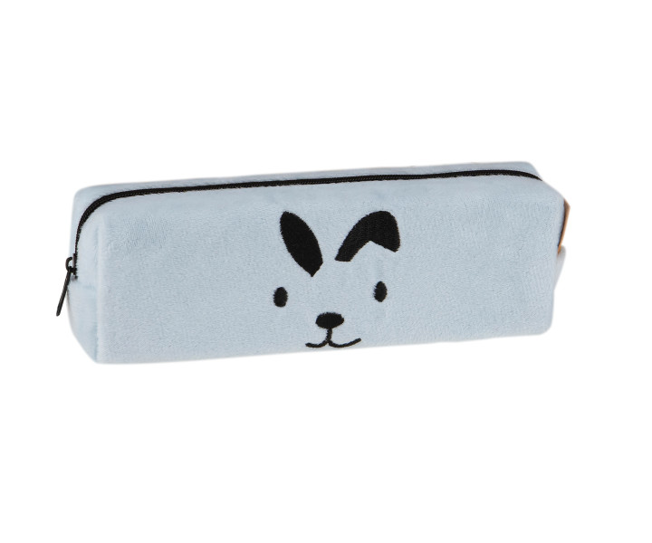 Pencil case - Pouch Bunny Faces Hash 3- mix of patterns