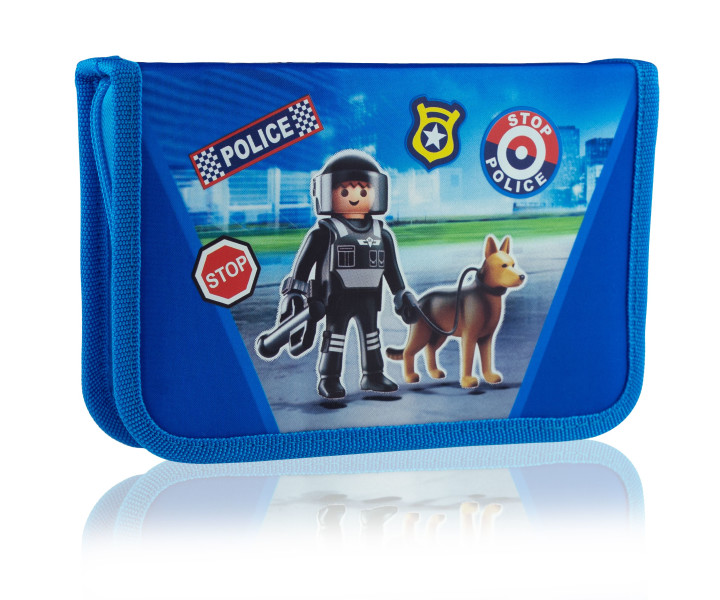 Single pencil case with no equipment, 2 flaps, 1BW2 PL-13 Playmobil
