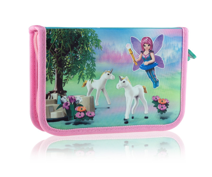 Single pencil case with no equipment, 2 flaps, 1BW2 PL-19 Playmobil